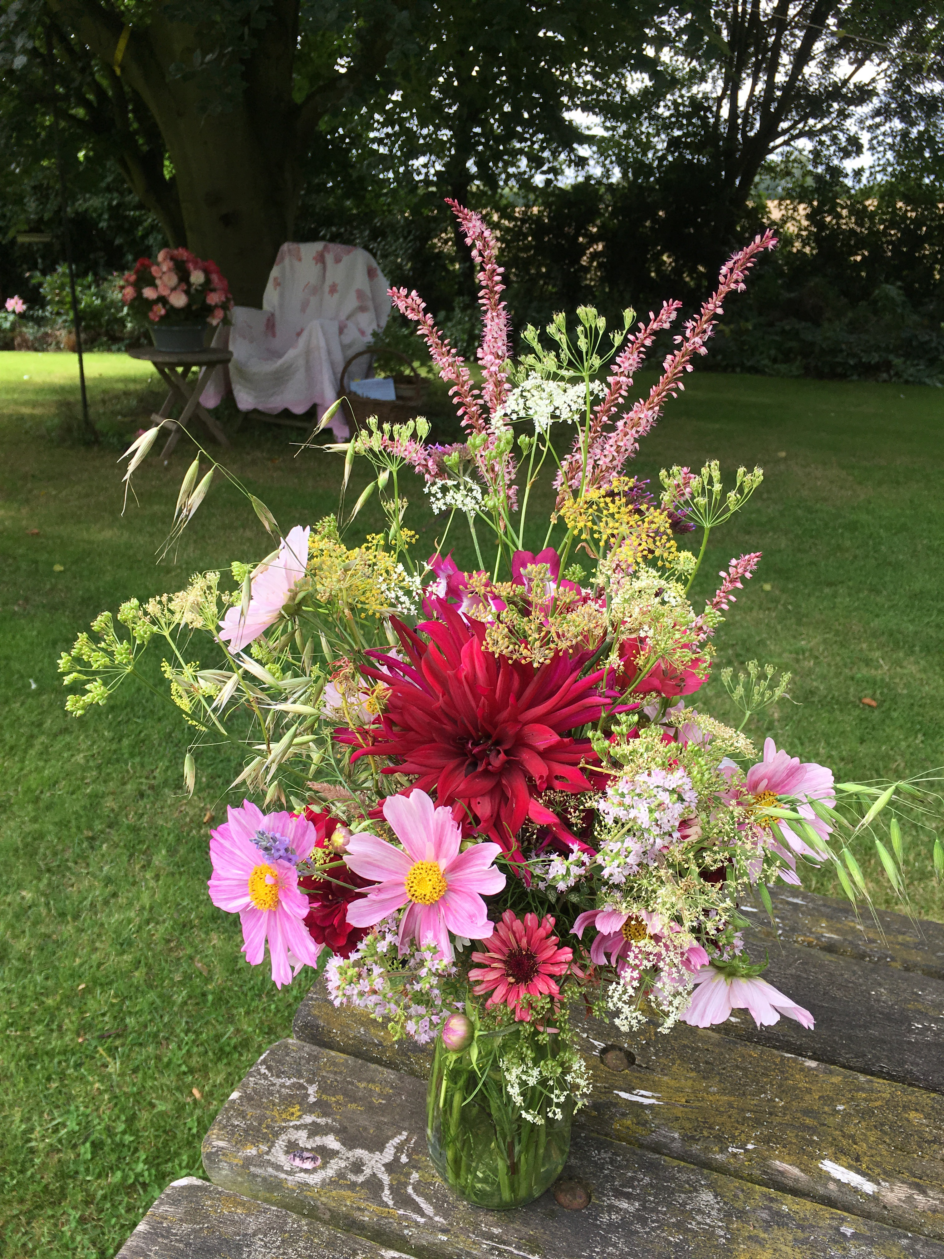 Wordlesswednesday garden table flowers bramble garden cheap bed quilts over the rickety old chairs instant transformation i hope you are all enjoying your summer and getting to spend time in the garden izmirmasajfo
